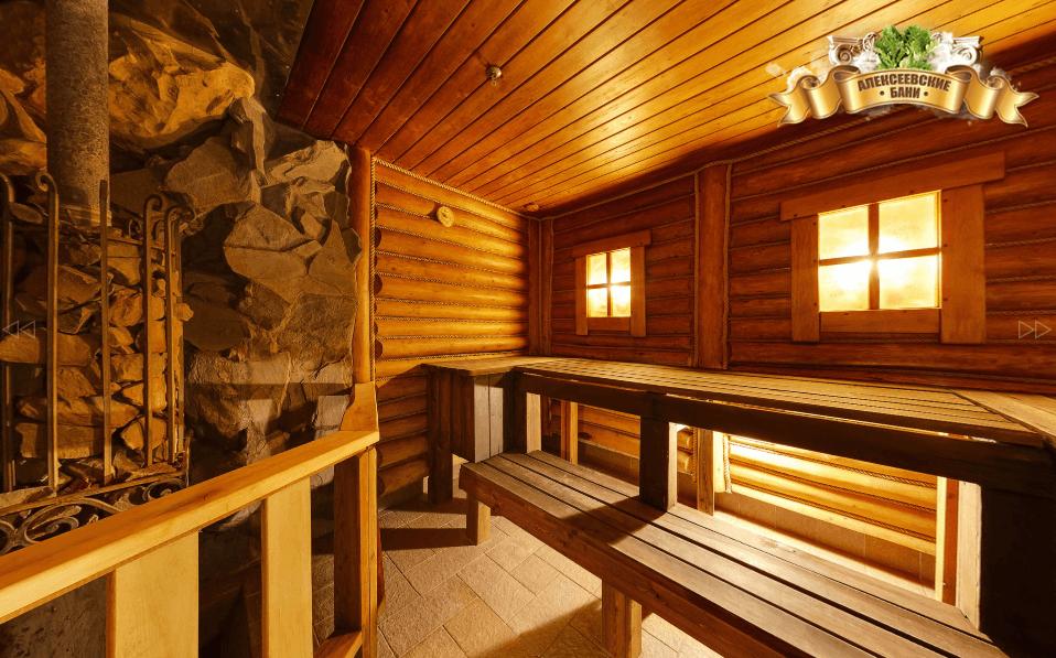 Русская баня в Алексеевских банях