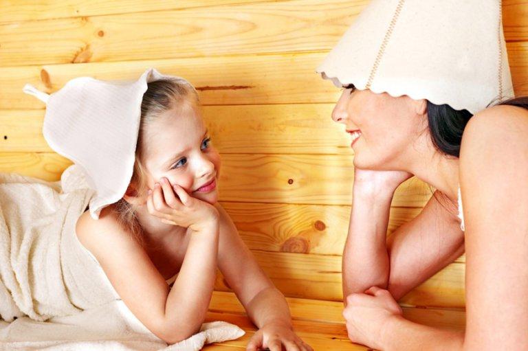 фото нудисты мамы с детьми в бане № 1067594  скачать