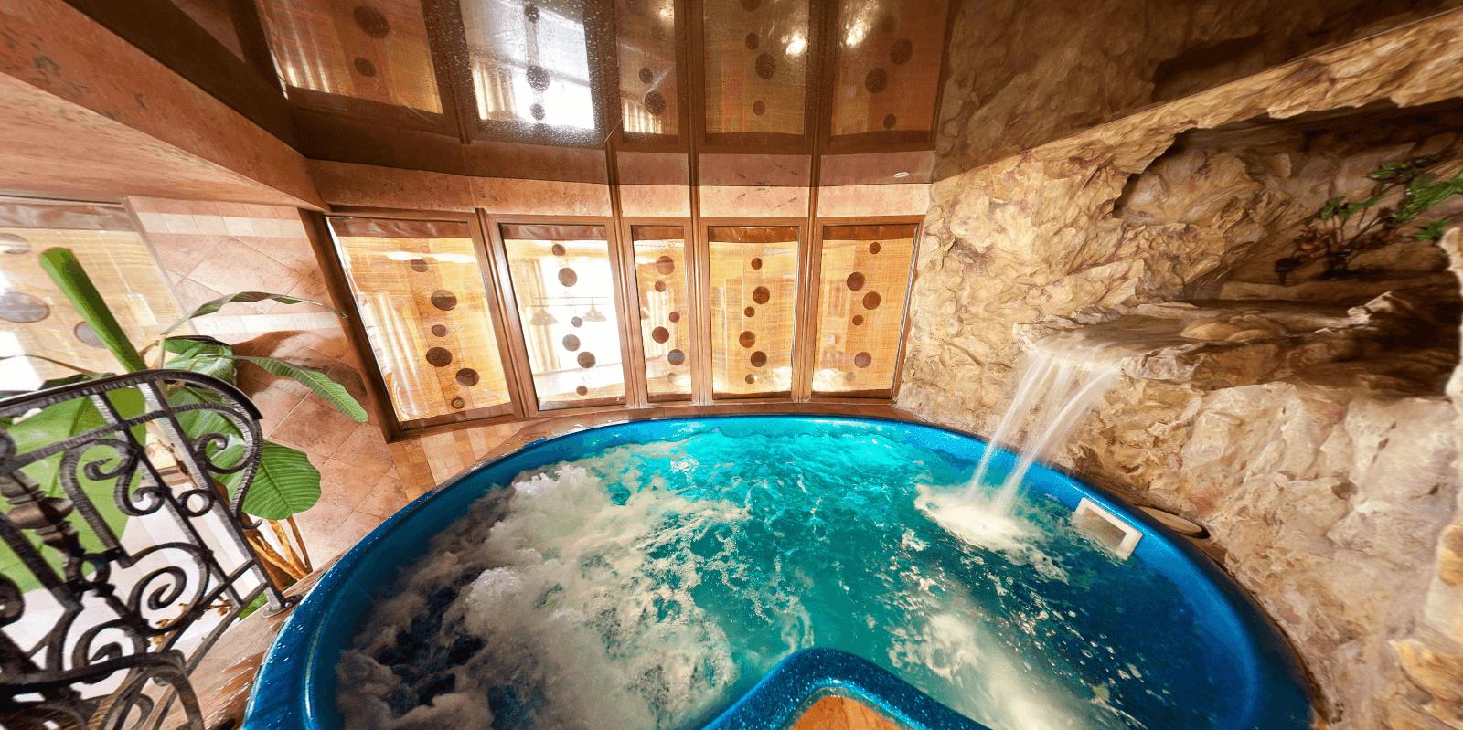 бассейн в африканском стиле