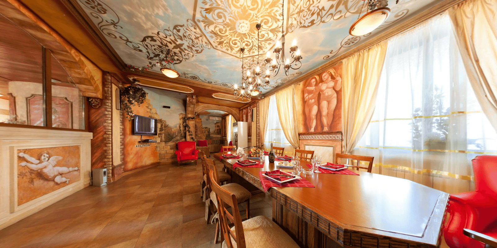 комната отдыха в итальянском стиле