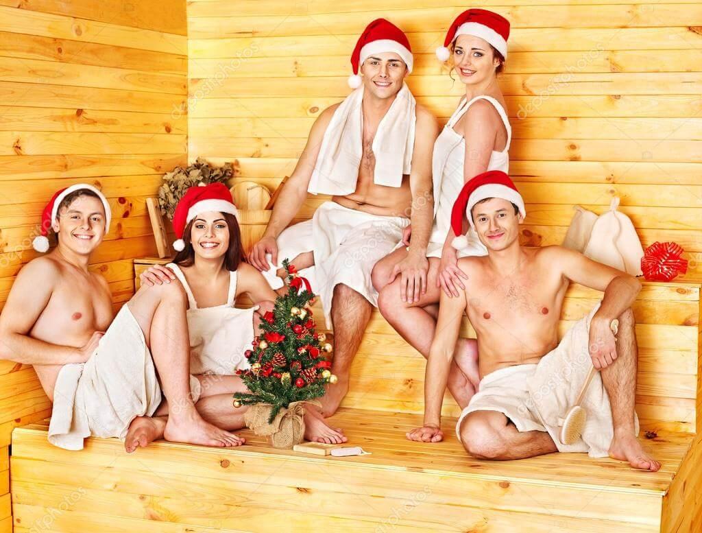 новый год в бане